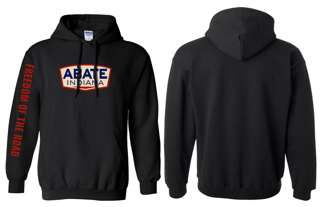 ABATE Indiana Logo Hoodie Black Adult Large