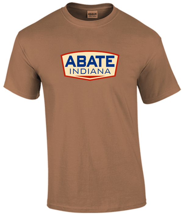 ABATE Full Logo Tee Chestnut Adult Size Medium