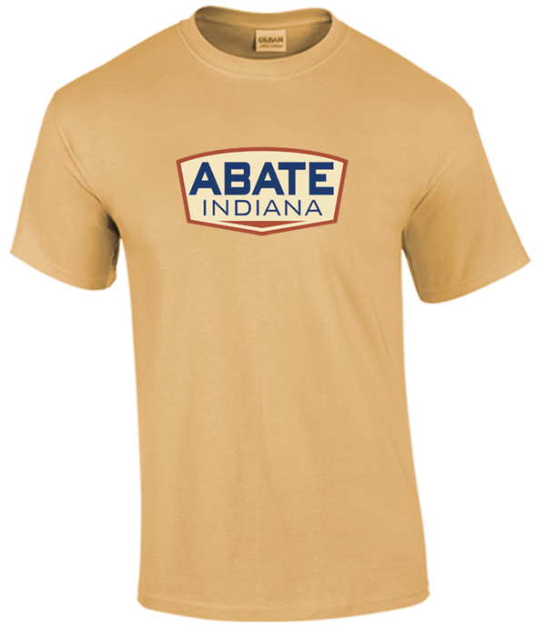 ABATE Full Logo Tee Old Gold Adult Size 3X