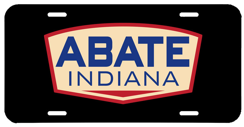 ABATE of Indiana License Plate
