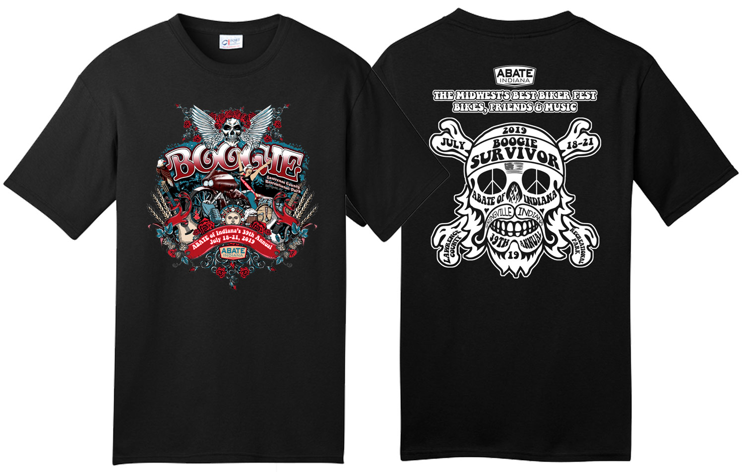 2019 Boogie Tee Black Adult 2X