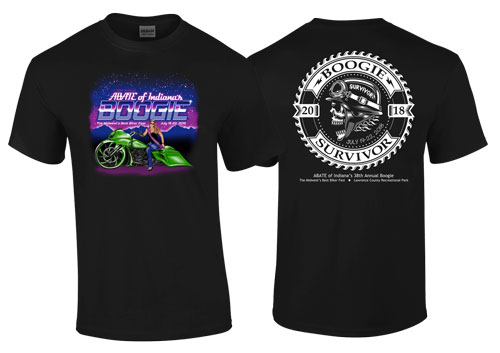 Boogie 2018 BLACK Adult Tee 4X