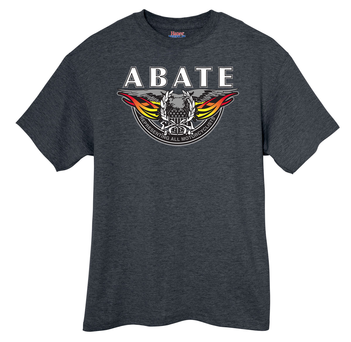 Straight Wing Eagle Tee Charcoal Medium