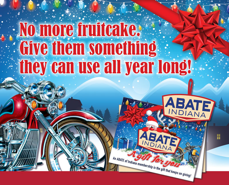 Single ABATE of Indiana Holiday Membership Gift Set