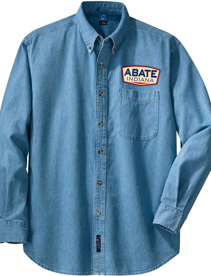 Denim Long Sleeve Button Up