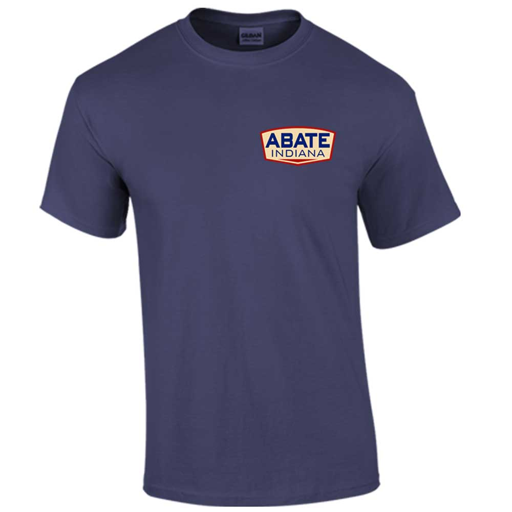 ABATE Logo Tee Metro Blue Adult Size Medium