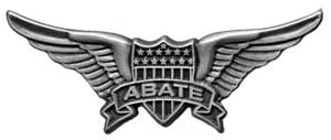 "ABATE WING PIN ""SILVER'"