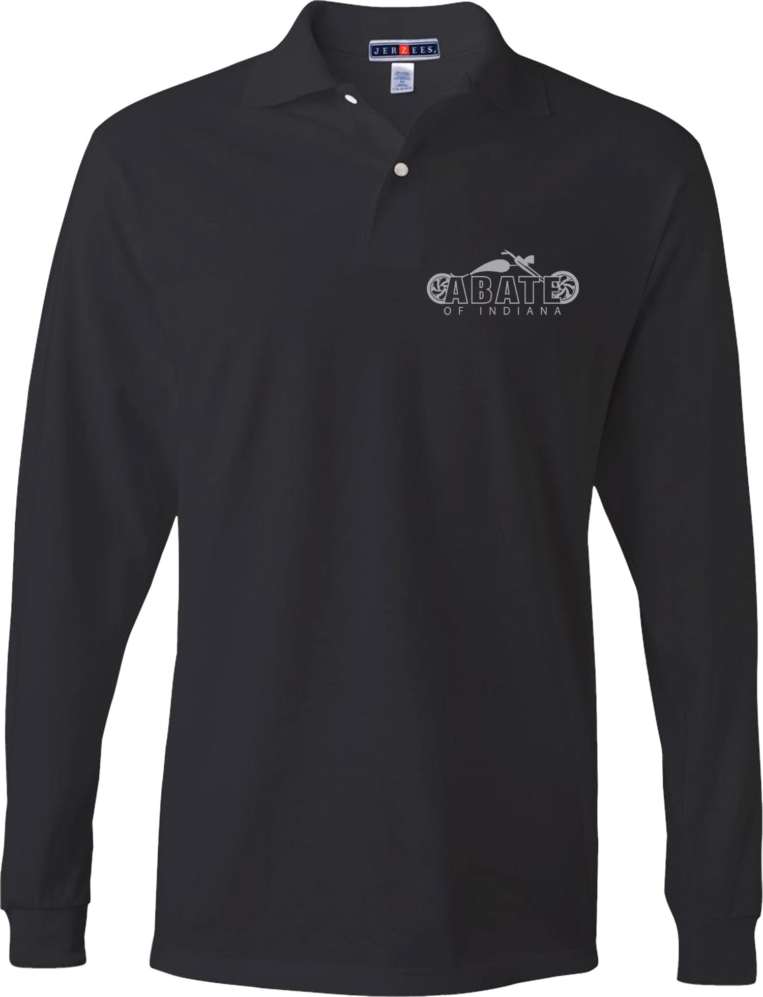 Embroidered Long SLeeve Polo