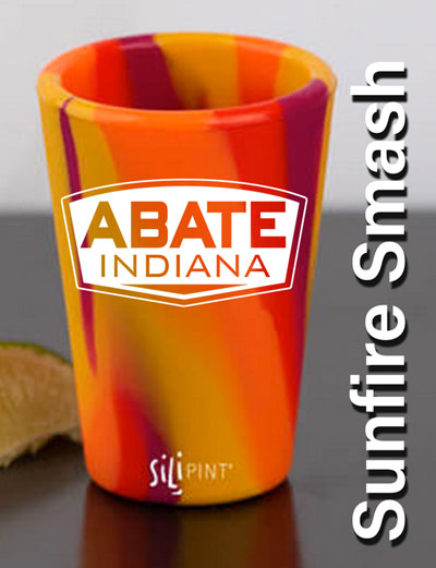 ABATE Silipint Silicone Shot Glass Sunfire Smash