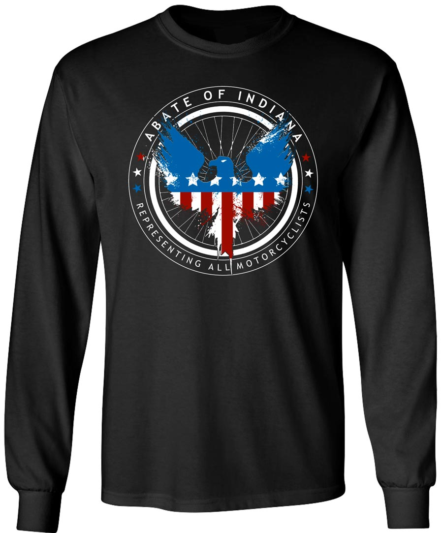 USA Eagle Black Long Sleeve Tee Ladies Medium